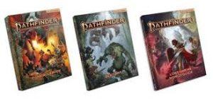 Imagen dos livros de Pathfinder 2e RPG