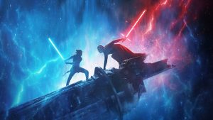 Star Wars 9 poster do filme com Rey e Kylo Ren
