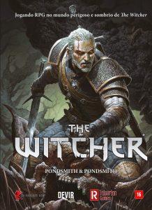 The Witcher RPG capa do livro pela devir no programa Caixinha Quântica